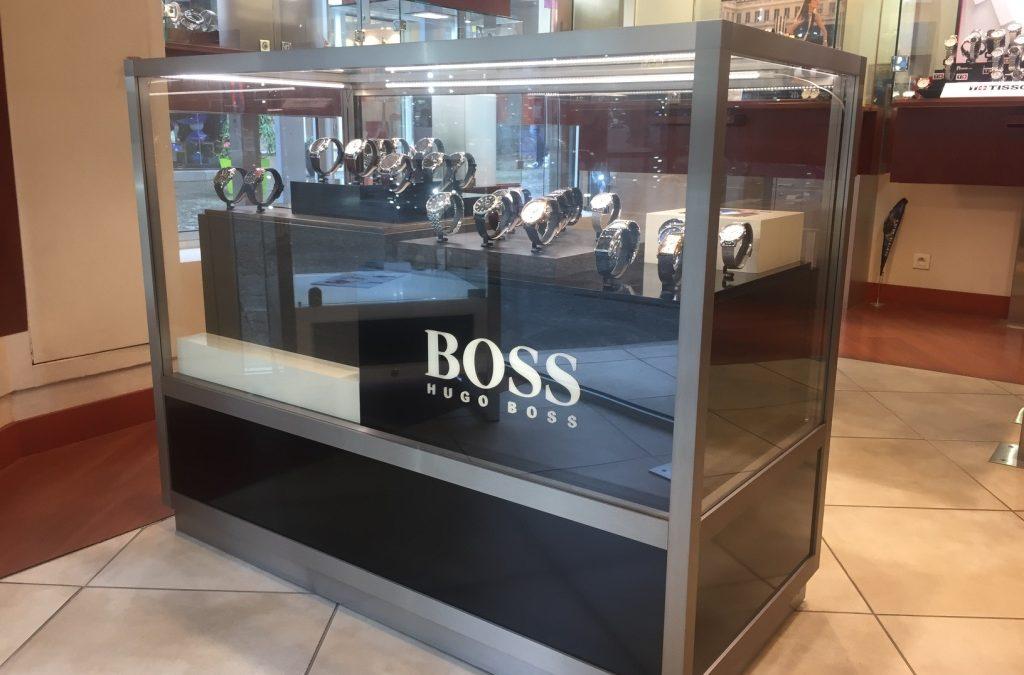 Nouvelle vitrine pour les montres BOSS, encore plus de choix