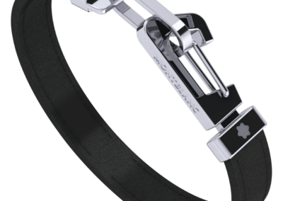 123791-Bracelet-in-black-leather-with-carabiner-closure-in-stainless-steel_1842762-400x284